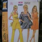 Vintage Pattern -Dress, Pants, Stol..